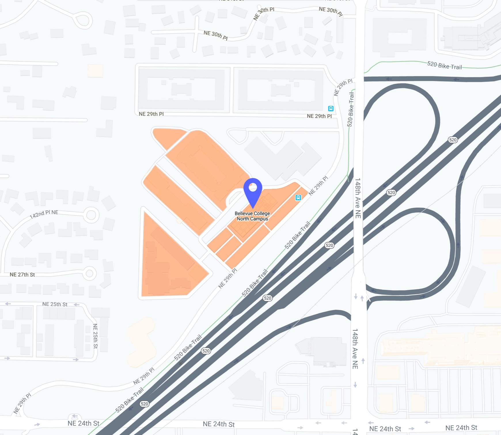 North Campus parking map